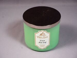 Details about Scented Candle Bath & Body Works LEMON MINT LEAF 3-Wick White  Barn 14 5oz Canada