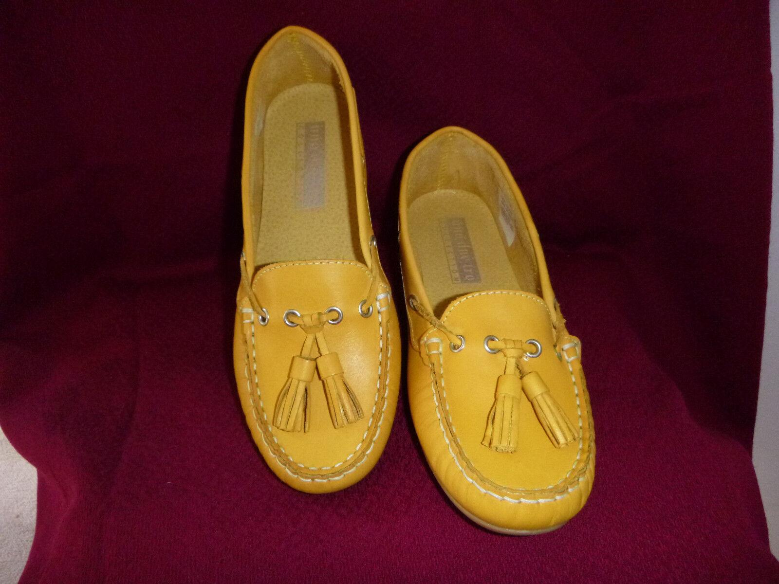 NOUVEAU  UNO DUE tre-jaune Ballerines cuir 37 Large-F abs-2, 5