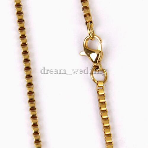 Unisex Mode Schlangenkette Halskette Ankerkette Goldkette Gold plattiert