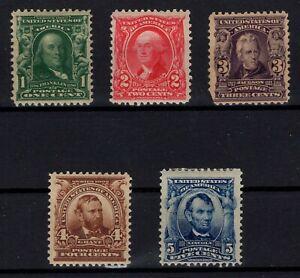 P126827-UNITED-STATES-SCOTT-300-304-MINT-CV-271