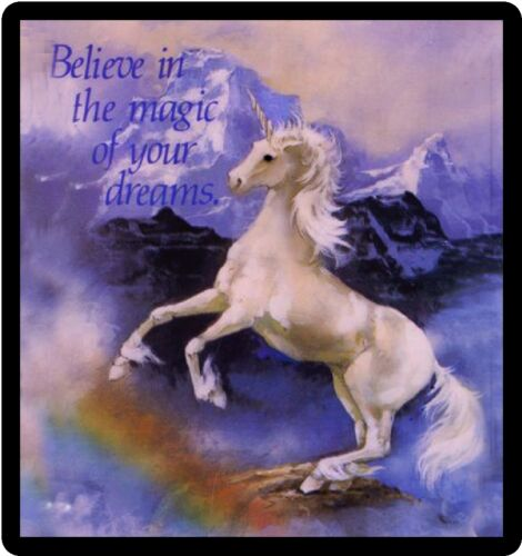 Unicorn Believe In The Magic Of Dreams Refrigerator Magnet