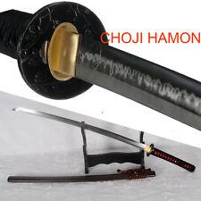 CHOJI Hamon T10 Steel Clay Tempered Handmade Japanese Samurai Katana Sword Sharp