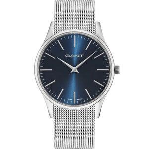 Gant-GT033002-Blake-Lady-blau-silber-Edelstahl-Armband-Uhr-Damen-NEU