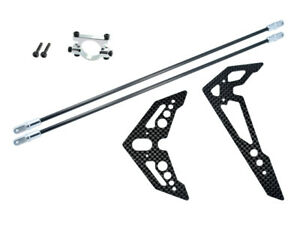 Microheli-Blade-Fusion-270-Silver-Tail-Boom-Support-amp-Carbon-Fins-MH-F270023F