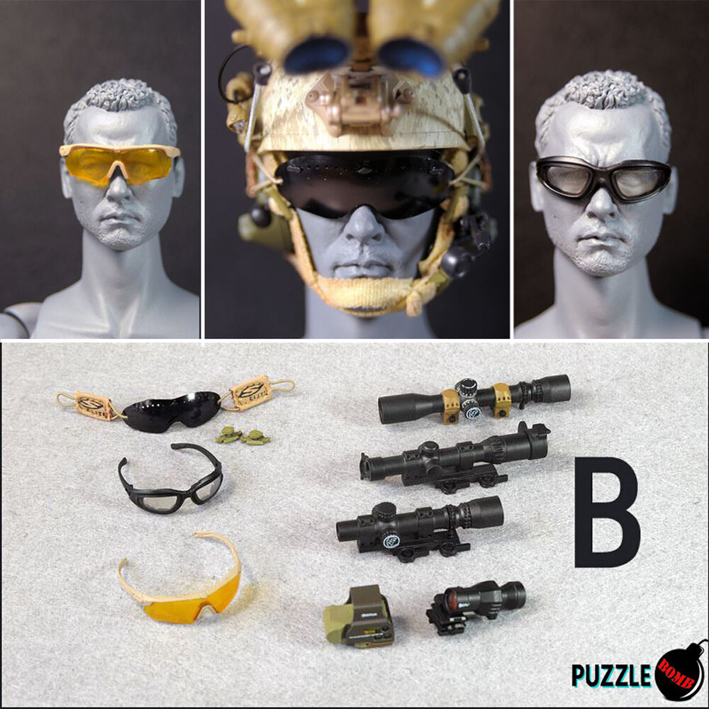 HOT FIGURE TOYS 1 6 Puzzle Bomb NEW Modern Modern Modern military goggles and sights B style 4e2fda