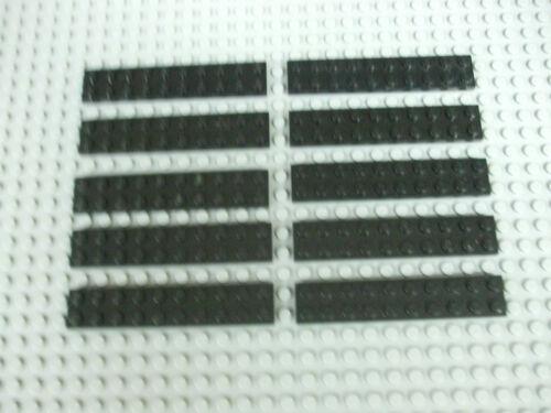 Lego Bulk Lot of 10 Black 2x10 Plates 3832