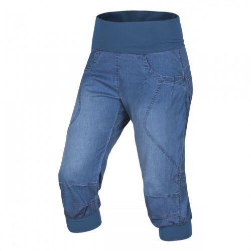 Ocun Noya Short Jeans Women  3//4-Lange Kletterjeans für Damen  middle blue