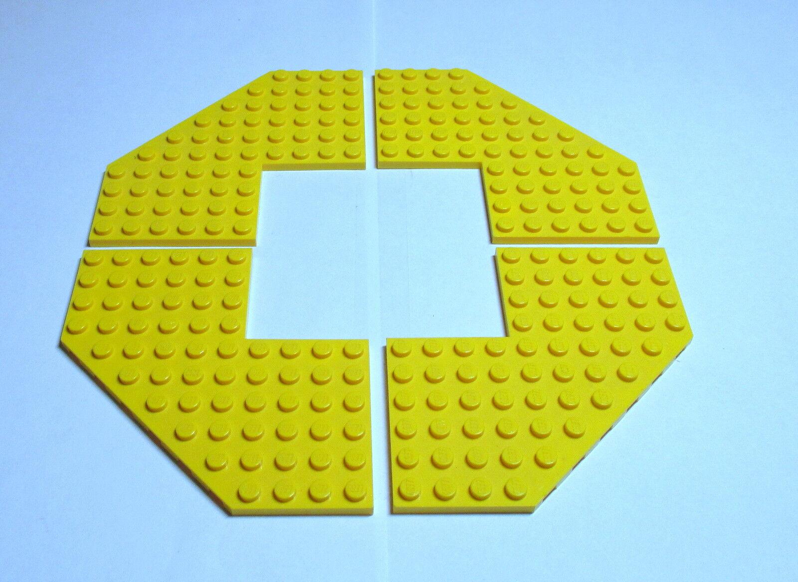 Lego 10 Stück runde Ecke Platte 4x4 beige tan 30565 Eckplatte Eckplatten Neu