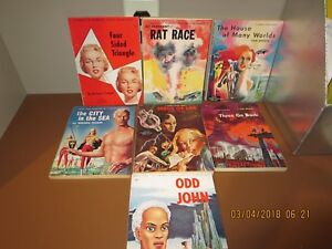 LOT-OF-7-GALAXY-SCIENCE-FICTION-MAGAZINES-1950-1953-R38