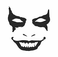 Joker Face Vinyl Decal Bumper Sticker Car Suv Window Door Clown Gotham