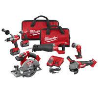 Milwaukee 2896-26 M18 Fuel 18-volt Cordless Power Lithium-ion 6-tool Combo Kit on sale