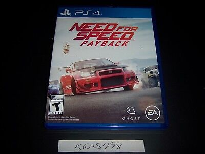 Replacement Case No Game Need For Speed Payback Playstation 4