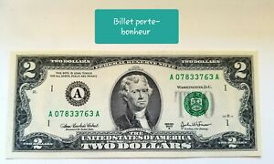 2-billets-Porte-Bonheur-americain-de-2-dollars