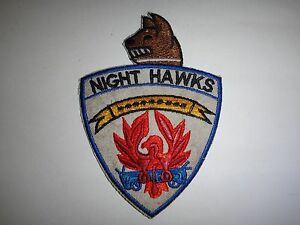 USAF-6313th-Air-Police-Security-Squadron-K-9-Section-NIGHT-HAWKS-Patch