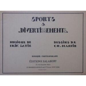 Aggressiv Satie Erik Sportarten Und Unterhaltung Piano 1973 Partitur Sheet Music Score Warm Und Winddicht Antiquarische Noten/songbooks