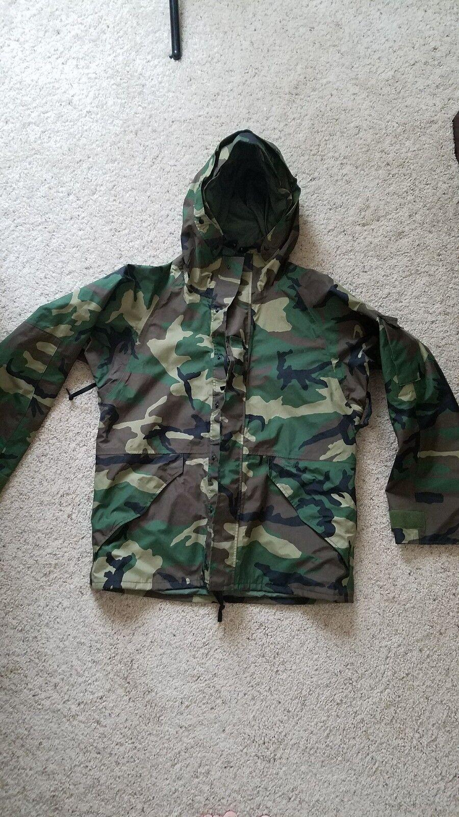 Military Hooded Camo weatherproof Coat Größe large regular
