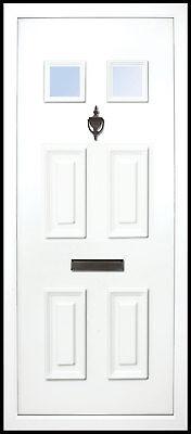 Main Glazed 28mm White uPVC Full Door Panel 24mm 790mm X 1930mm.