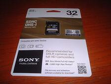Sony 32GB, Class 10 10MB/s - SDHC UHS-I Card - Retail - SF32UY/TQMN
