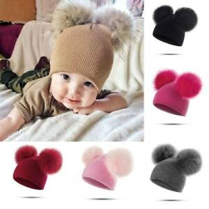 ace47805a Details about Toddler Infant Kids Baby Boy Girl Winter Warm Crochet Knit  Hats Beanie Caps Gift