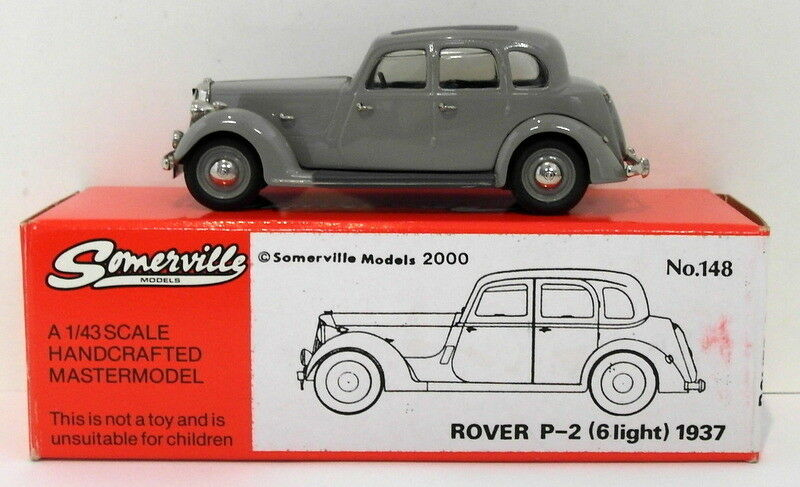 Somerville Models 1 43 Scale 148 - 1937 Rover P-2 6 Light - grau  | Online-verkauf