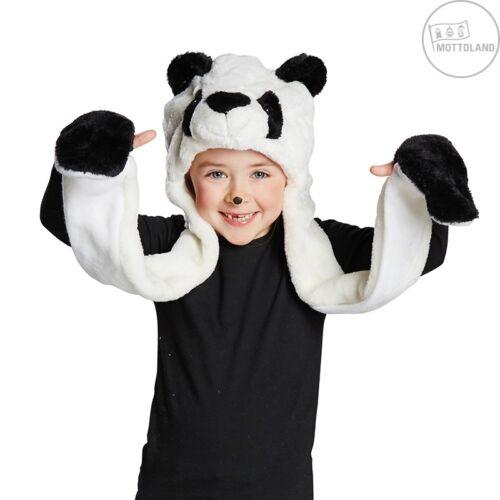 Kinder und Erwachsene Mütze Panda Plüschmütze Mottoland 48869 Karneval