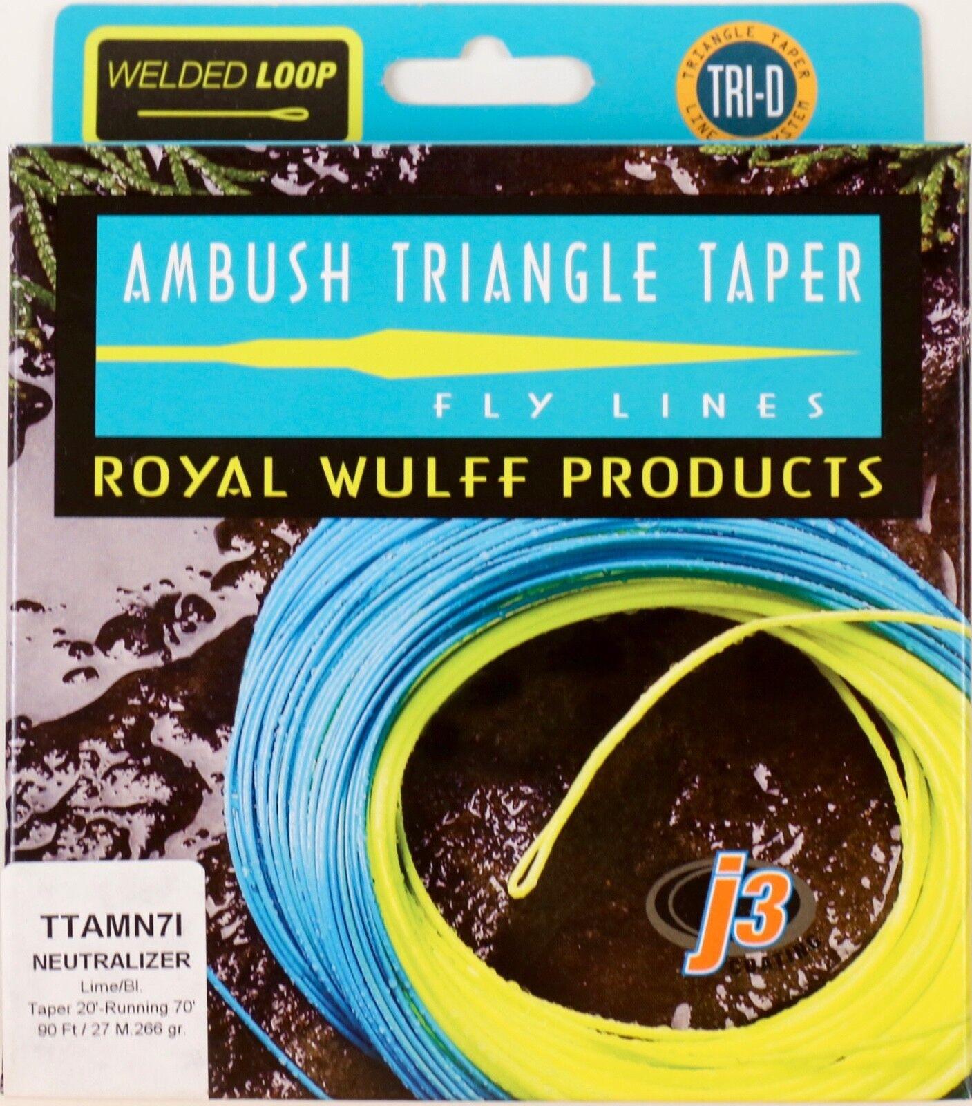 Royal Wulff Ambush Neutralizer Taper 7 WT Line Free Fast Shipping TTAMN7I