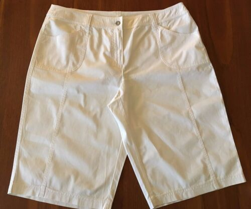 GERRY WEBER Edition Womens White 100/% Cotton Below Knee Casual Shorts 16-18
