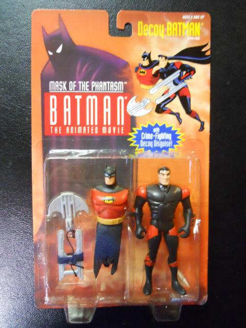 BATMAN ANIMATED MOVIE MASK OF THE PHANTASM DECOY BATMAN ACTION FIGURE