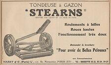 Y7312 Tondeuse à Gazon STEARNS - Pubblicità d'epoca - 1924 Old advertising