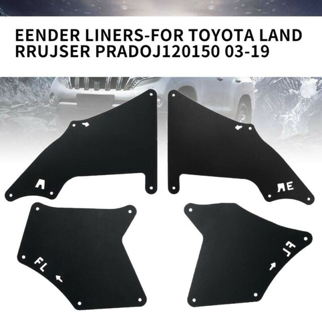 4Pcs Front Rear Car Mud Flaps for Toyota Land Cruiser Prado J120 J150 2003- V6W2