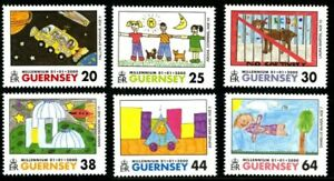 GUERNSEY-2000-MILLENNIUM-SET-OF-ALL-6-COMMEMORATIVE-STAMPS-MNH