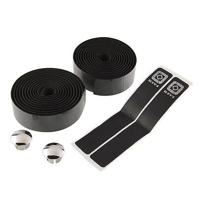 2Pcs Road Bike Cycling Sport Belt Handlebar Cork Tape Wrap With 2 Bar Plug