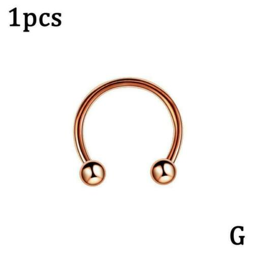 Adjustable Alloy Nose Ring Thin Lip Helix Septum Ear Jewelry Piercing Hoop F5I6