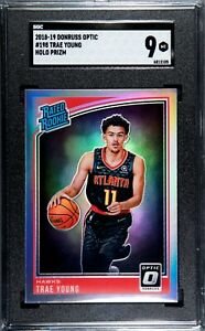 2018-19-Donruss-Optic-TRAE-YOUNG-RC-HOLO-Prizm-Silver-Rated-Rookie-SGC-9-Mint