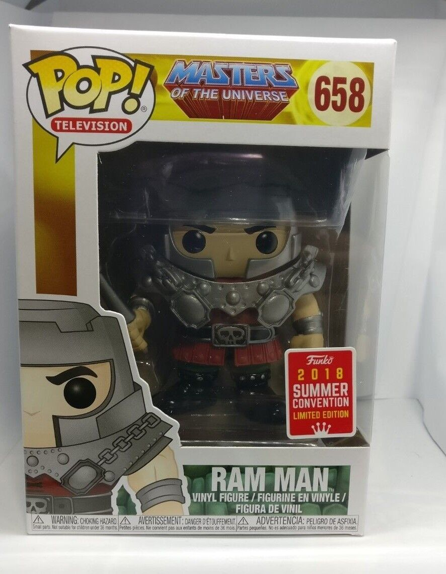 Funko POP  658 Ram Man Masters of the universe Motu Summer convention 2018 sdcc