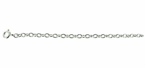 "Silver 3 mm plain trace chain 24/"" 64 cm"