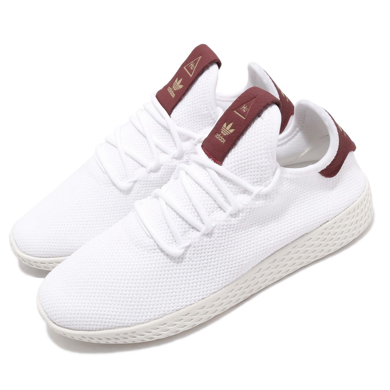 adidas Originals PW Tennis Hu W Pharrell Williams White Burgundy Women D96443