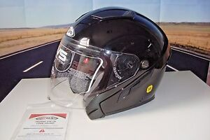 c2725996 ZOX 88-30764 3/4 SVS Open Face X SM Motorcycle Helmet Gloss Black W ...