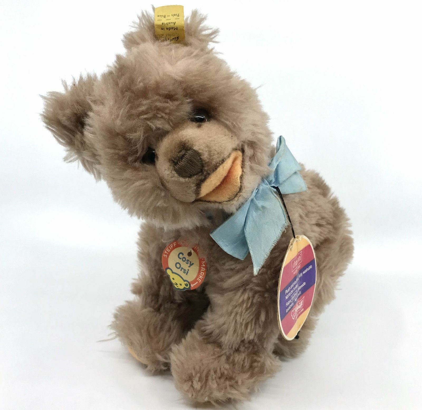 Steiff Cosy Orsi Bear all fours Dralon Plush 20cm 8in ID Button Tags 1968 -78