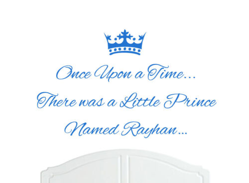 Once Upon a Time Prince Rayhan Wall Sticker Decal Bed Room Nursery Art Boy//Baby