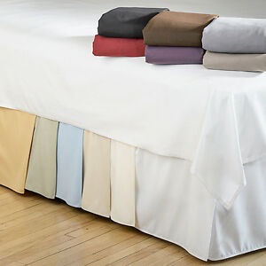 15 inch drop bedskirts twin xl queen king size bed frame dust ruffle bedskirt ebay. Black Bedroom Furniture Sets. Home Design Ideas