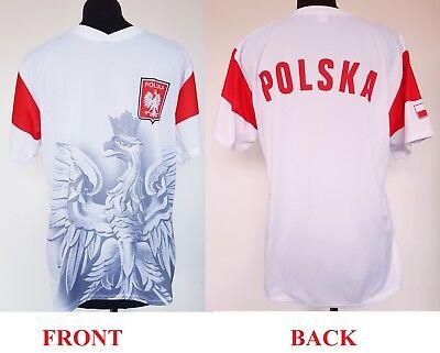 T-shirt Koszulka Polish Polen Football Poland Polska Patriotic White Euro 2020