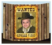 Wild West Wanted Poster Photo Prop Party Activity Decoration Western Outlaw