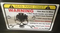 Yellow Deadmans Chest Overlay Decal Matco Tool Box Cart Mechanic Socket