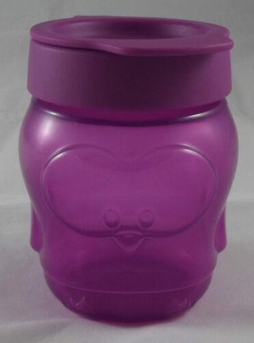 Tupperware petit snack récipient snack récipient pingouin violet violet neuf emballage d/'origine
