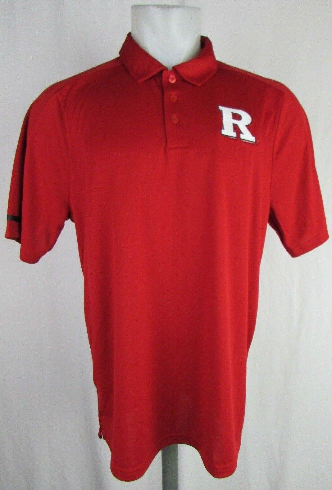 Rutgers University Adidas Climachill Performance Polo NCAA Rojo Hombres M L XL 2X