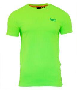 Lite-de-Superdry-Orange-Label-de-Neon-para-hombre-Manga-corta-cuello-redondo-de-la-Camiseta-Amarillo