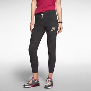 1d59011b057bc Nike Women's Gym Vintage Crops Pants Running Capris Training Yoga ...