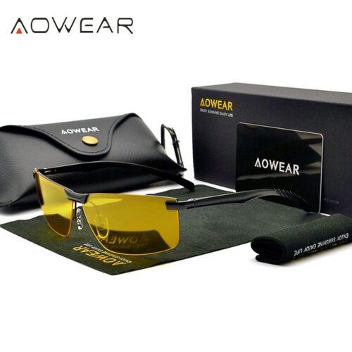 Night Driving Glasses Polarized UV400 Lenses HD Sight Yellow Goggles Anti-Glare