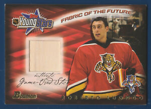 Roberto Luongo 01 02 Bowman Topps Young Stars Fabric Of The Future
